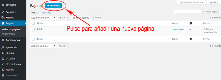 anadir-pagina-nueva-wp-todas-las-paginas