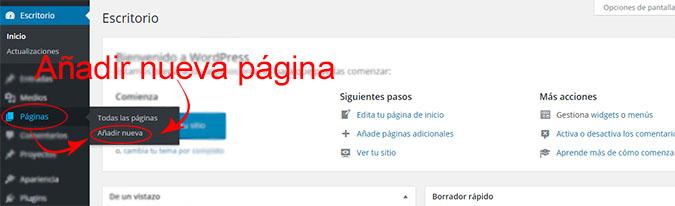 anadir-pagina-nueva-wp