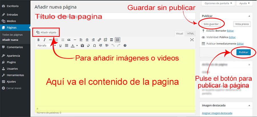 publicar-pagina-wp